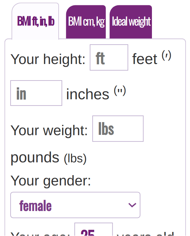 BMI Calculator English System