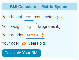 BMI Calculator Metre-Kilos